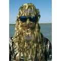 Шлем-маска с сетки сухой камыш Лапша (под зимний головной убор)